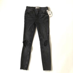 Free People High Rise Busted Skinny Jeans NWT